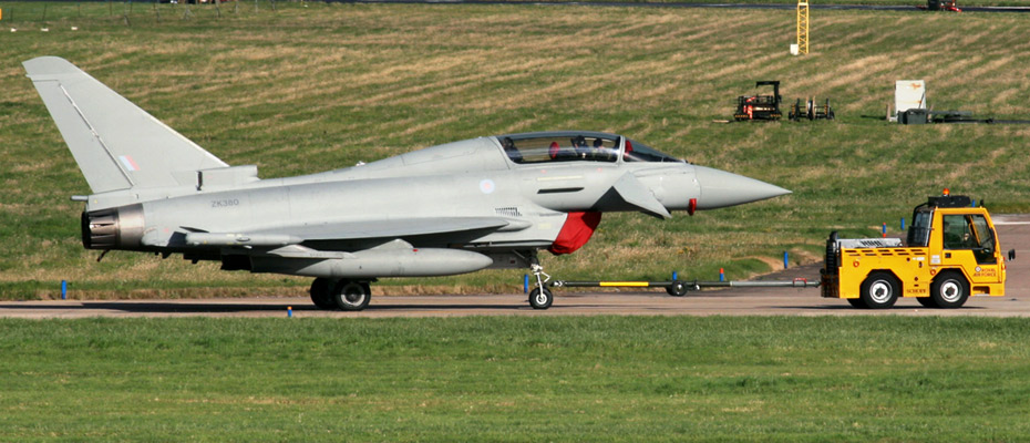 RAF Eurofighter EF-2000 Typhoon T3 ZK380, at the 2012 RAF Leuchars Airshow.